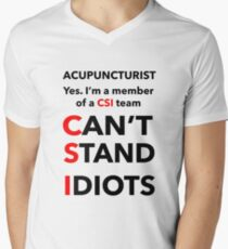 ACUPUNCTURIST Men's V-Neck T-Shirt