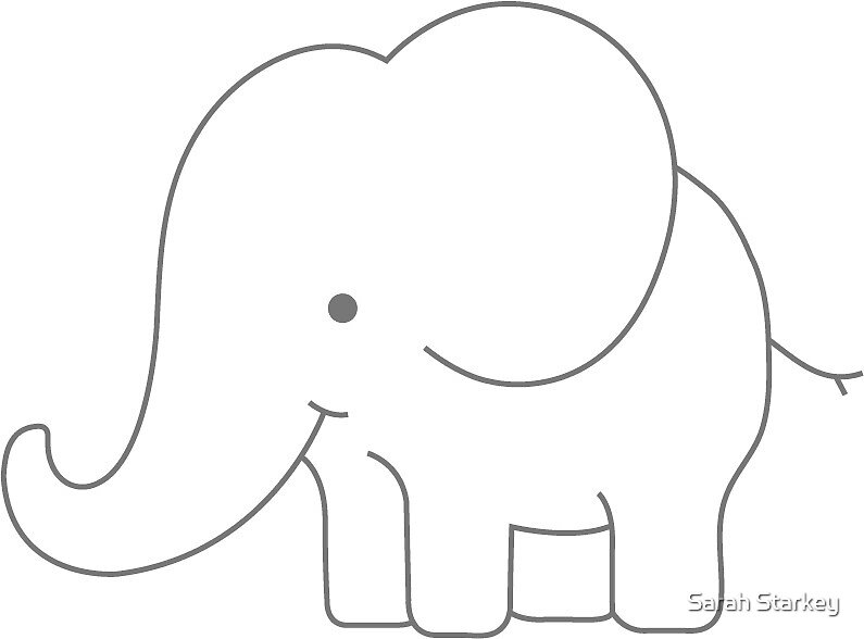 Cute Cartoon Elephant Drawing Drawing Ideas Collection