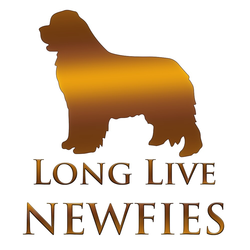 Long Live Newfies - In Gold by Christine Mullis
