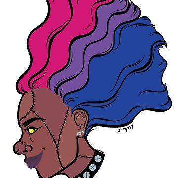 PRIDE MONSTERS- Frankenstein, Bisexual Pride Flag by JMTolman
