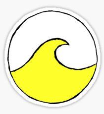 vibrant yellow circle wave Sticker