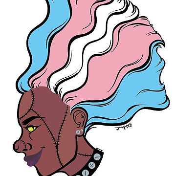 PRIDE MONSTERS- Frankenstein, Transgender Pride Flag by JMTolman