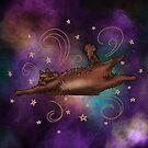 Cat exploring space by Bezzikapa