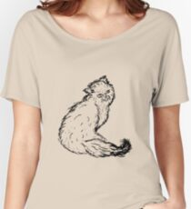 Persian Cat Sketch Women's Relaxed Fit T-Shirt