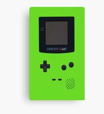 green game boy Canvas Print
