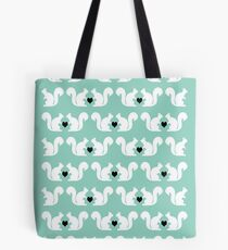 Squirrels pattern print designs minimal mint dots pastel pattern cell phone gift ideas nature Tote Bag