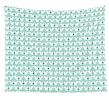 Squirrels pattern print designs minimal mint dots pastel pattern cell phone gift ideas nature Wall Tapestry