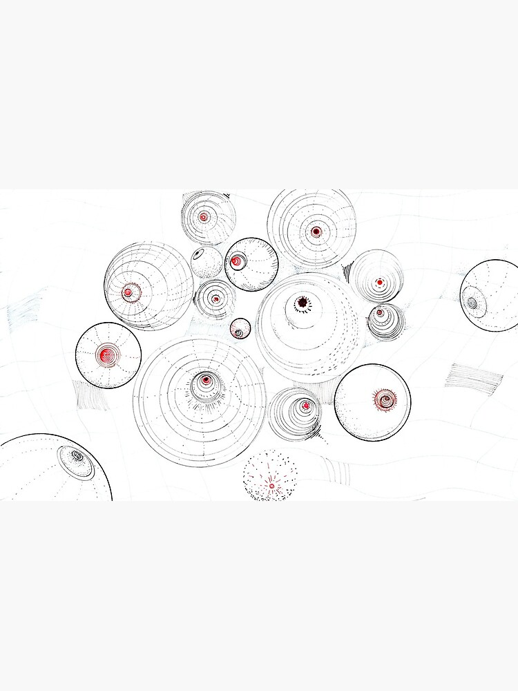 Dance of the Gauge Bosoms (in Vacuum) ink drawing on paper by rvalluzzi