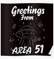 AREA 51 UFO SPACE Poster