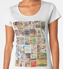 Vintage Arabic Adverts Mosaic Poster Women's Premium T-Shirt