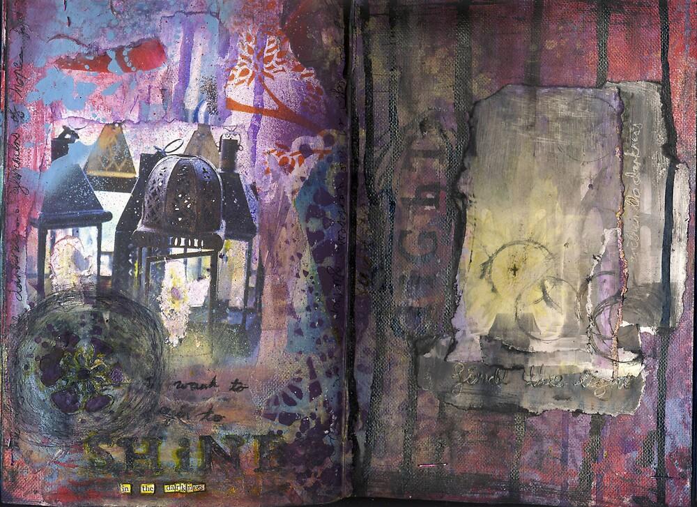 Art Journal - shine by Clare Reid