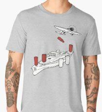 BATTLESHIP / SEA BATTLE BOARD GAME Men's Premium T-Shirt