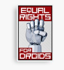 Equal Rights for Droids Canvas Print