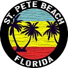 Saint Pete Beach Florida St. Petersburg Ocean Gulf Of Mexico by MyHandmadeSigns