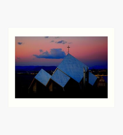 """Temples - """"The City Church of Reykjavik (IS)"""" Art Print"""