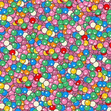 Fruity Juicy Bubble Gum Balls - Rainbow by notsniwart
