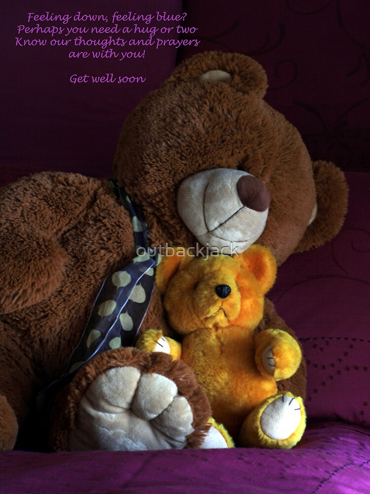 Get well soon Greeting card by outbackjack
