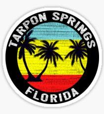 Tarpon Springs Florida Tropical Beach Palm Trees Gulf Of Mexico Sticker