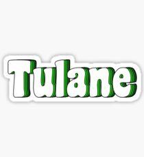 Tulane Retro Bubble lettering Sticker