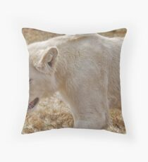 In the Lions Den Throw Pillow