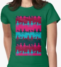 Bright Cats Womens Fitted T-Shirt