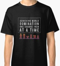 Hilarious Chess World Domination Gift Design for Boys & Girls Classic T-Shirt