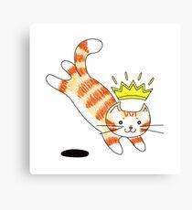 Crown Kat Canvas Print
