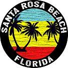 Santa Rosa Beach Florida Gulf Of Mexico Tropical Emerald Coast 30A by MyHandmadeSigns