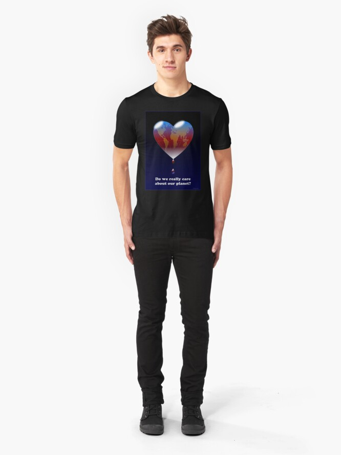 Alternate view of Crying Planet Slim Fit T-Shirt