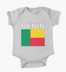 Benin Flag National Pride Design One Piece - Short Sleeve