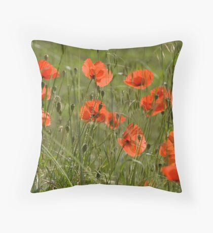 Poppies 3 Throw Pillow