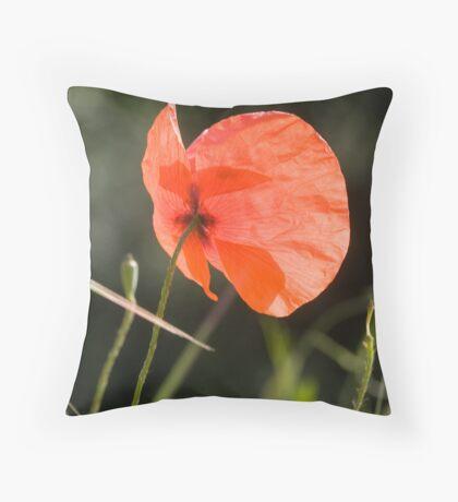 Poppy butterfly! Throw Pillow