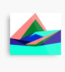 Pink Hills, Generative Art, Data Visualisation Metal Print