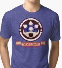 Never Safe - Mario Kart  Tri-blend T-Shirt
