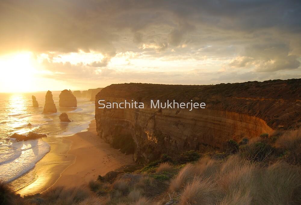 sunset at the 12 Apostles, Great Ocean Road, Australia by Sanchita  Mukherjee