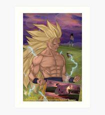 Goku vs Buu, signé Impression artistique