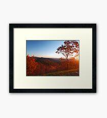 Shenandoah Autumn Sunrise Framed Print