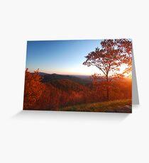 Shenandoah Autumn Sunrise Greeting Card