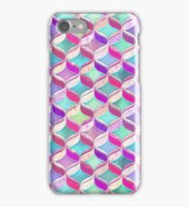Patchwork Ribbon Ogee Pattern with Pink & Purple iPhone Case/Skin