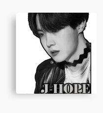 J-Hope Black & White Canvas Print