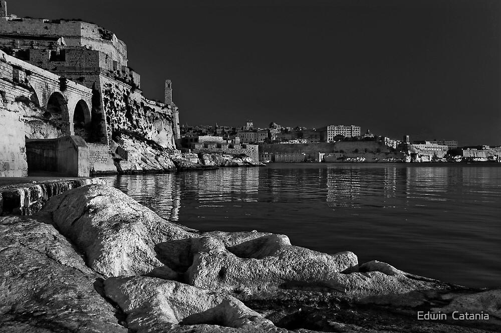 Mono Birgu Rocks  by Edwin  Catania