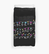 dark alphabet Duvet Cover