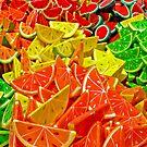Colorful Papier Mache Fruits by MaluC