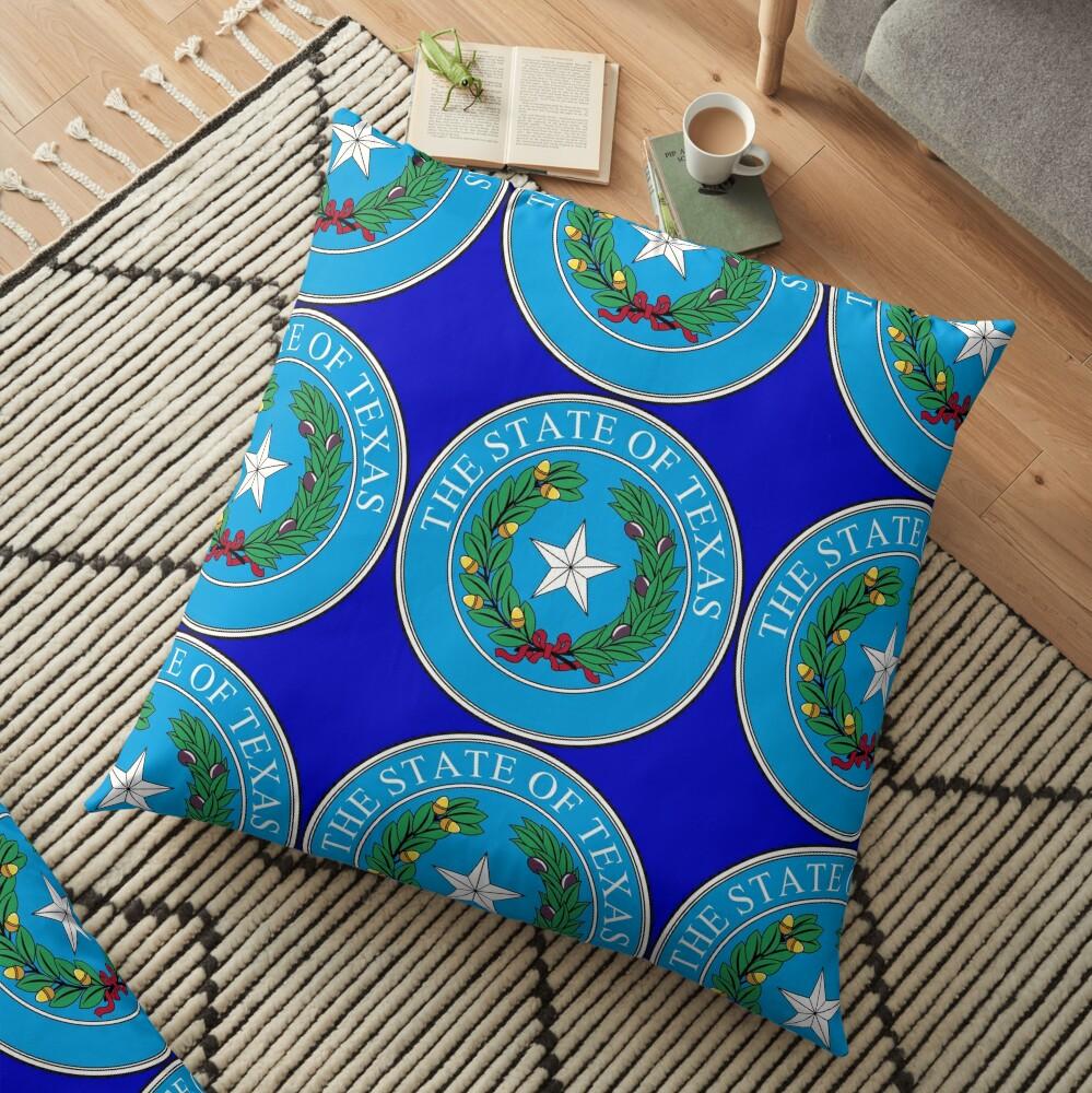 Seal of Texas Floor Pillow