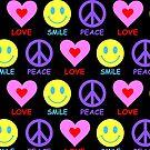 Peace Love Smile Pattern by ArtVixen