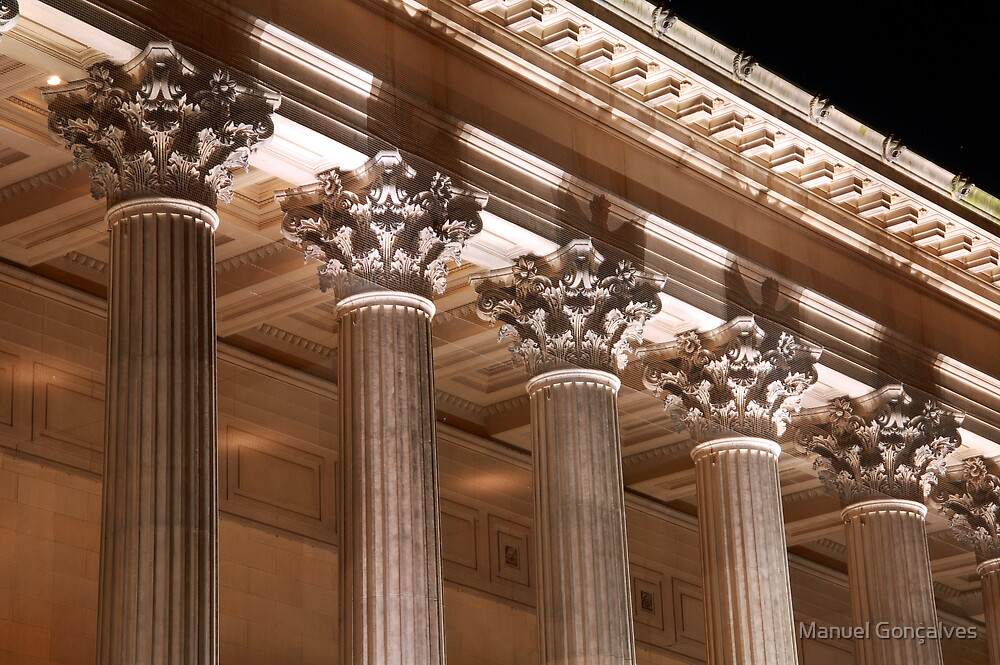 St George's Hall pillars by Manuel Gonçalves