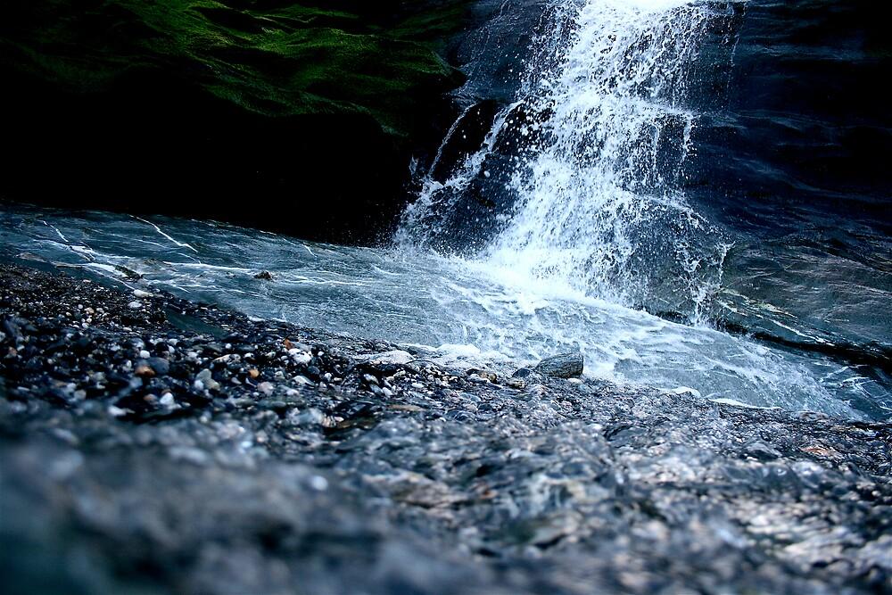 Waterfall,Tintagel Beach Cornwall by Amanda Gazidis