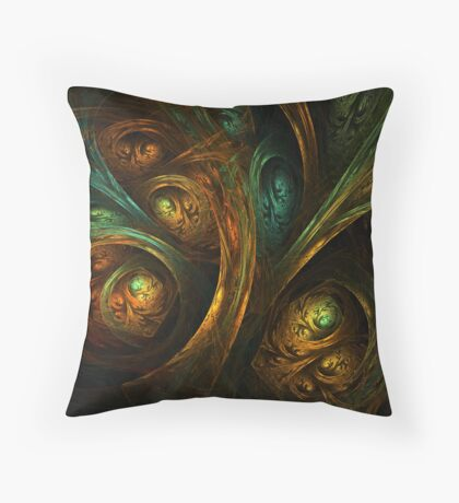 A Walk Through the Dark Forest Throw Pillow