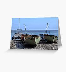 Twin Boats, Tweedledum and Tweedledee... Greeting Card