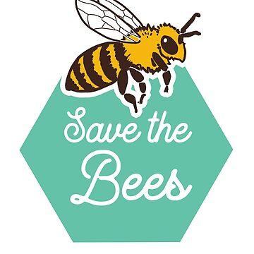 Save The Bees Honeycomb de comfykindness